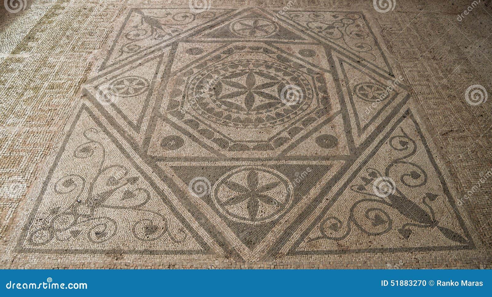 Mosaico romano del pavimento fotografia stock immagine for Pavimento con mosaico