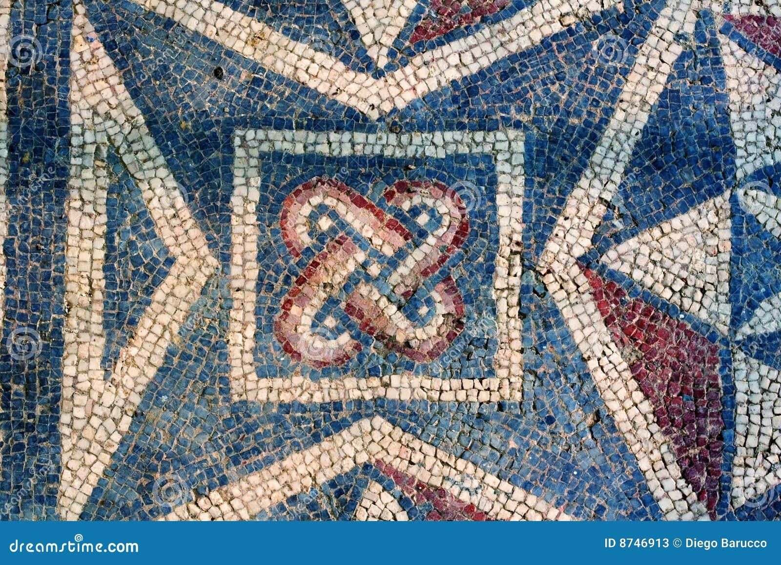 Mosaico romano della villa sicilia immagine stock for Mosaico romano