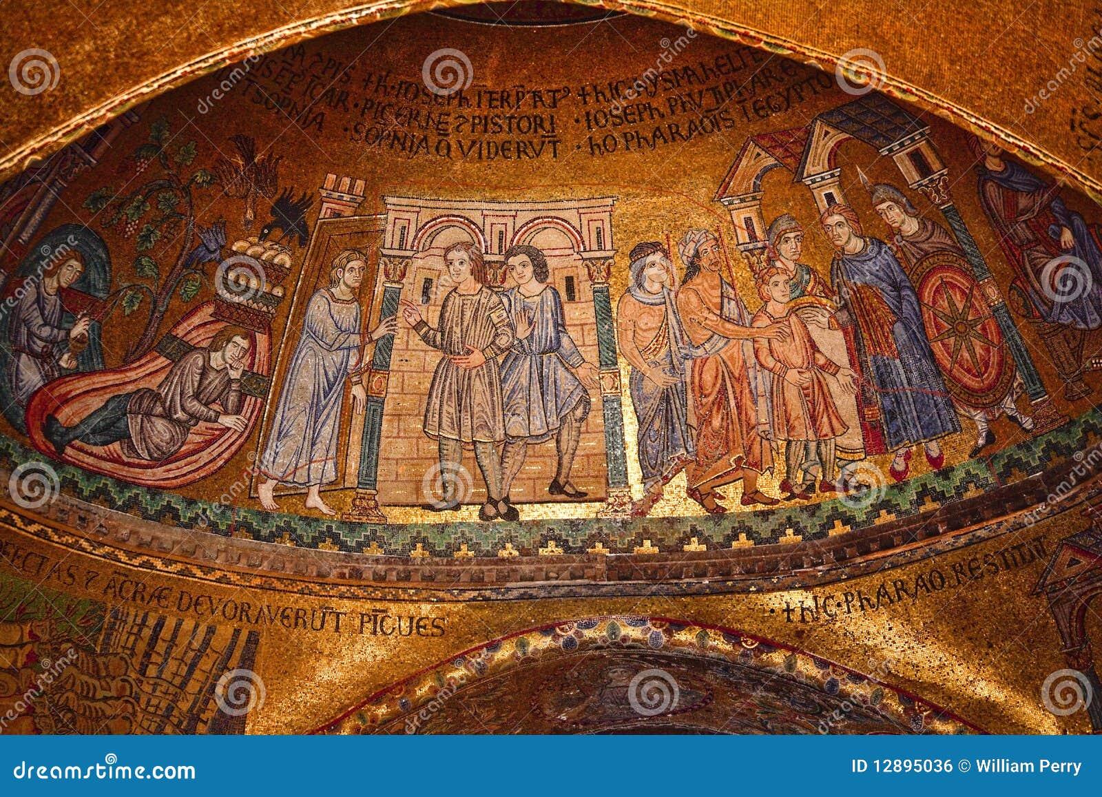 Mosaico Venecia Italia De La Basílica De San Marcos Stock Images ...