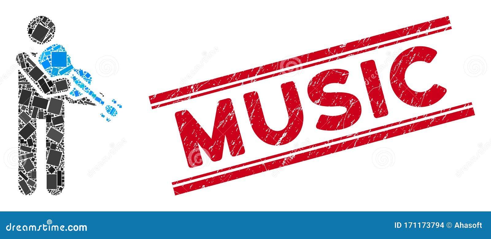 Mosaico Violinista Y Marca De Agua De Música Griega Con Líneas Ilustración Del Vector Ilustración De Violinista Líneas 171173794