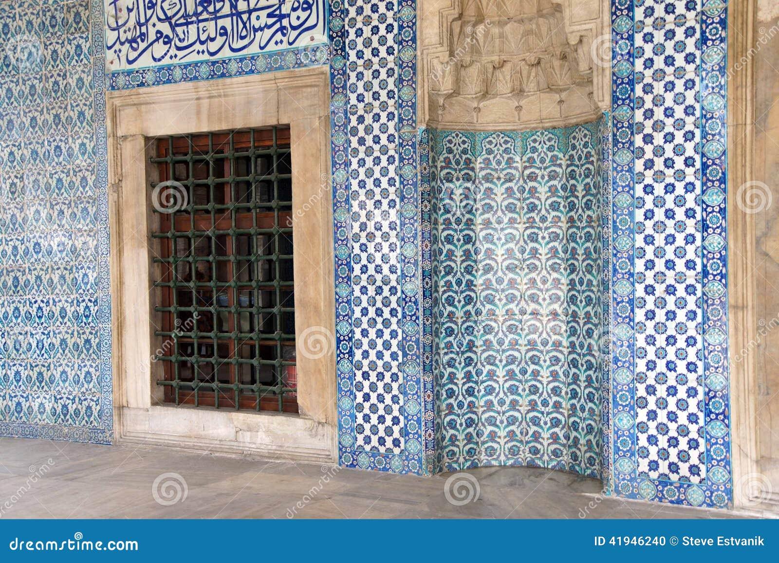 mosaicos que cubren las paredes exteriores foto de archivo