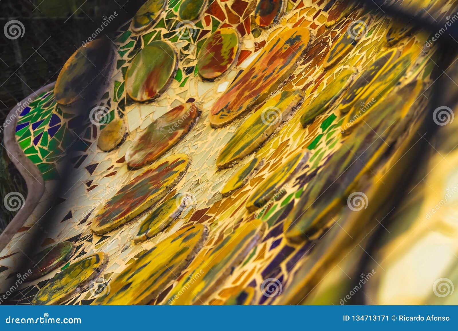 Mosaik av Antoni GaudÃ