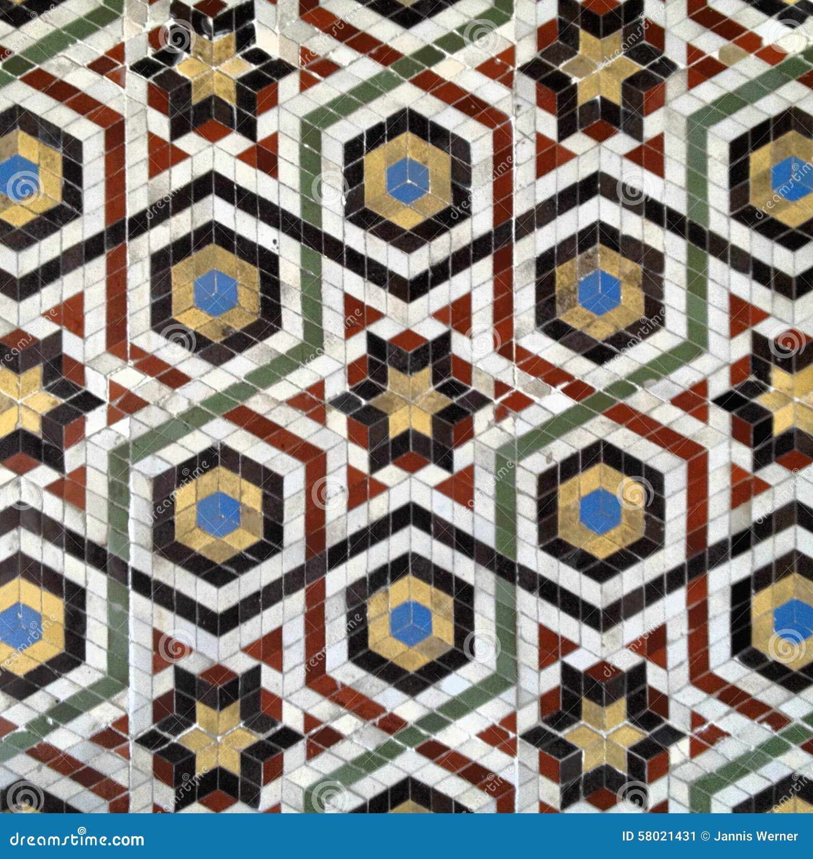 Fliesen Wildes Muster: Mosaik-Fliesen-Muster Stockbild. Bild Von Hintergrund