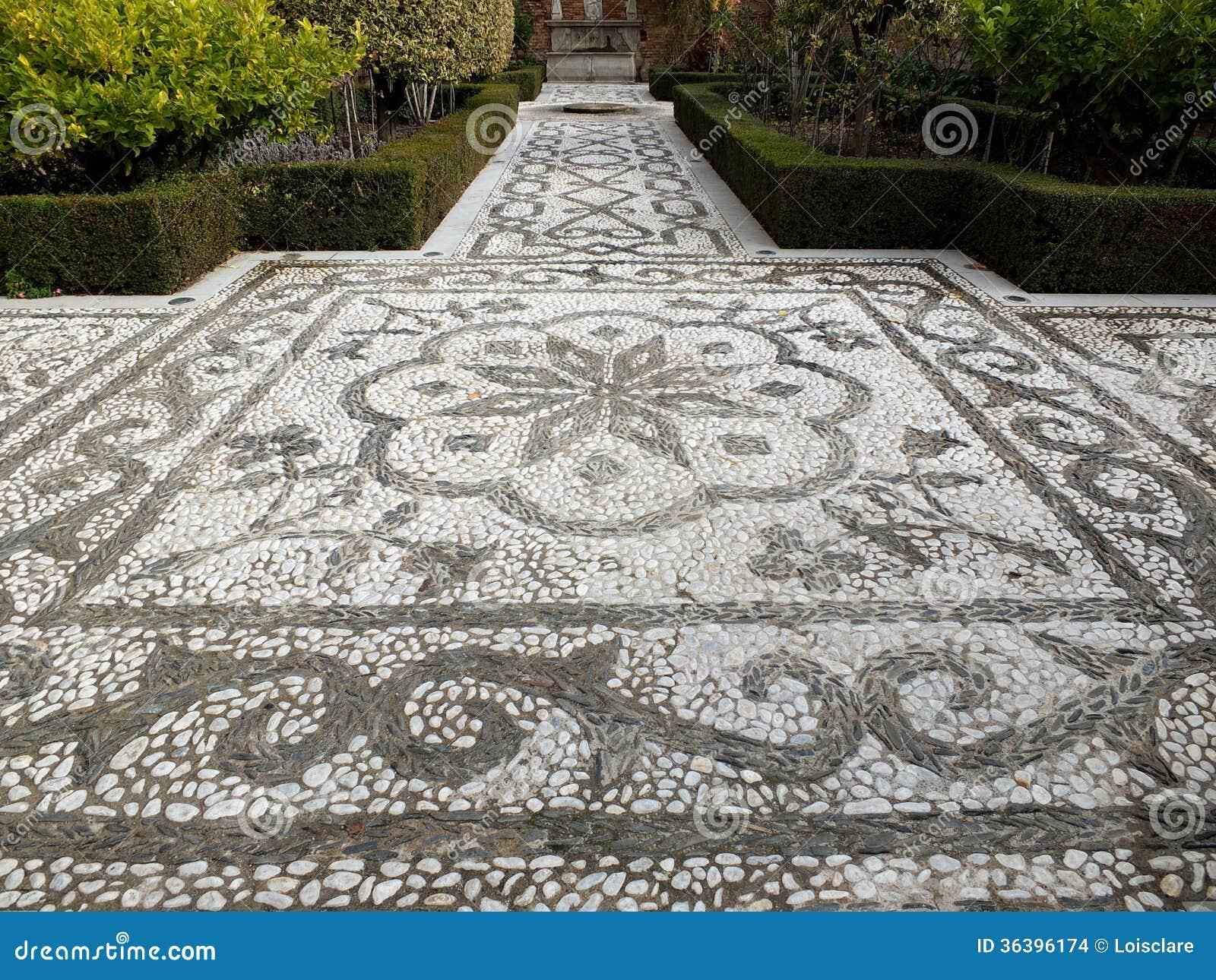 Mosaik garten weg stockbilder bild 36396174 - Garten mosaik ...