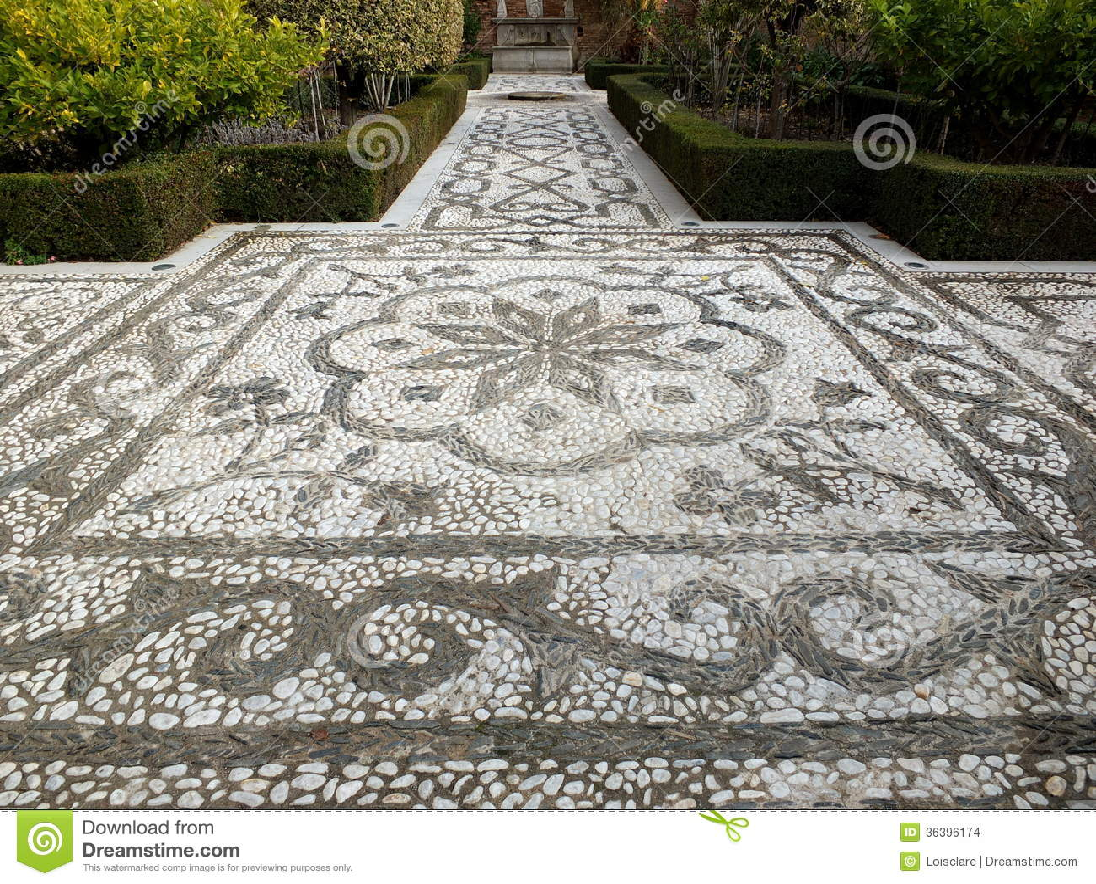 Genial Mosaik Garten Dekoration Von Mosaik-garten-weg
