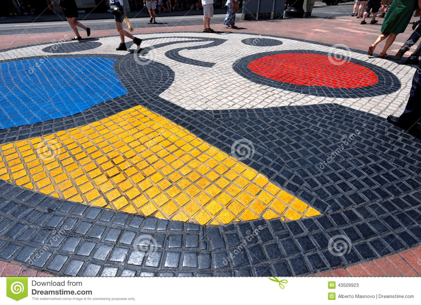 Mosaik vid Joan Miro - Barcelona Spanien
