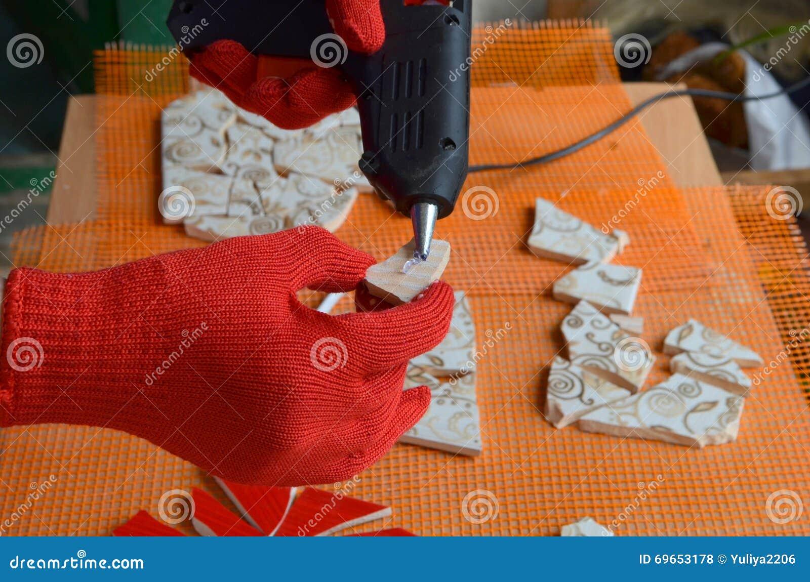 Mosaikfliesen mit Schläger