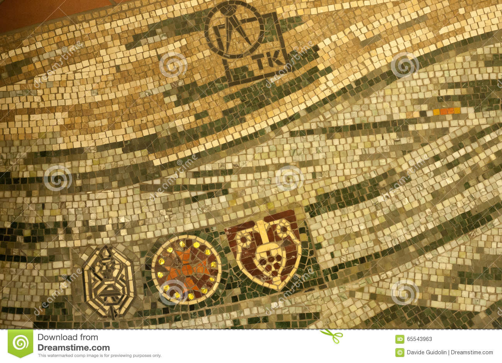 Mosaikfußbodendetail