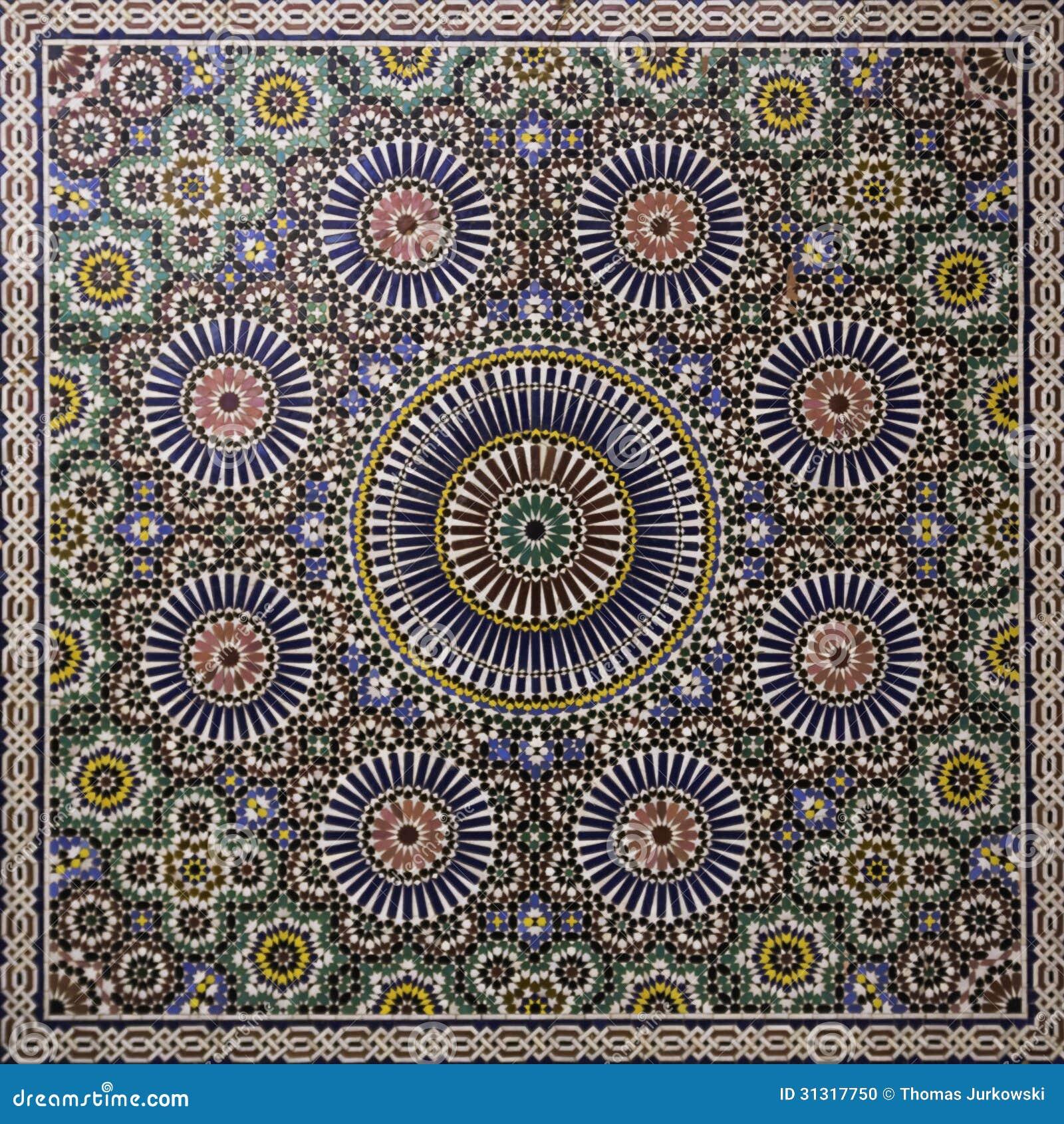 Mosa que marocaine photo stock image 31317750 for Comment coller de la mosaique