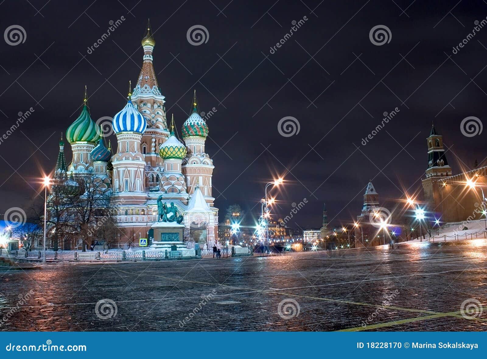 Moscú, catedral de la albahaca del santo