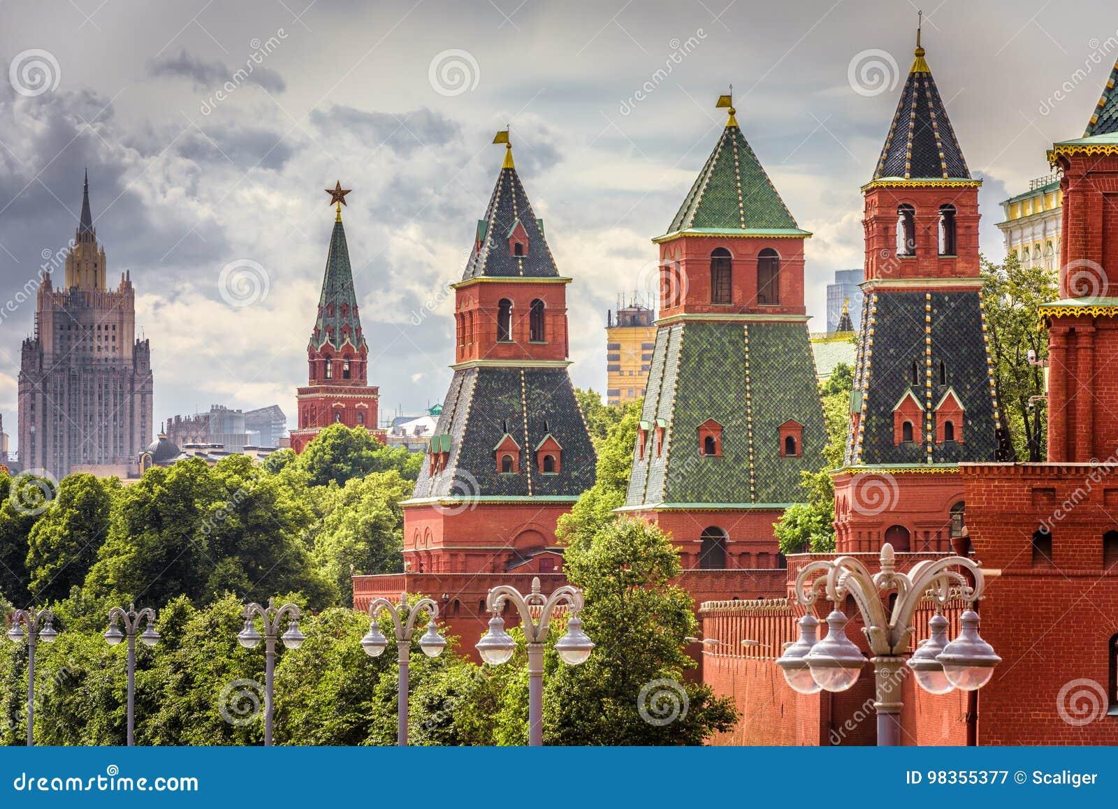 Moscú el Kremlin en verano, Rusia