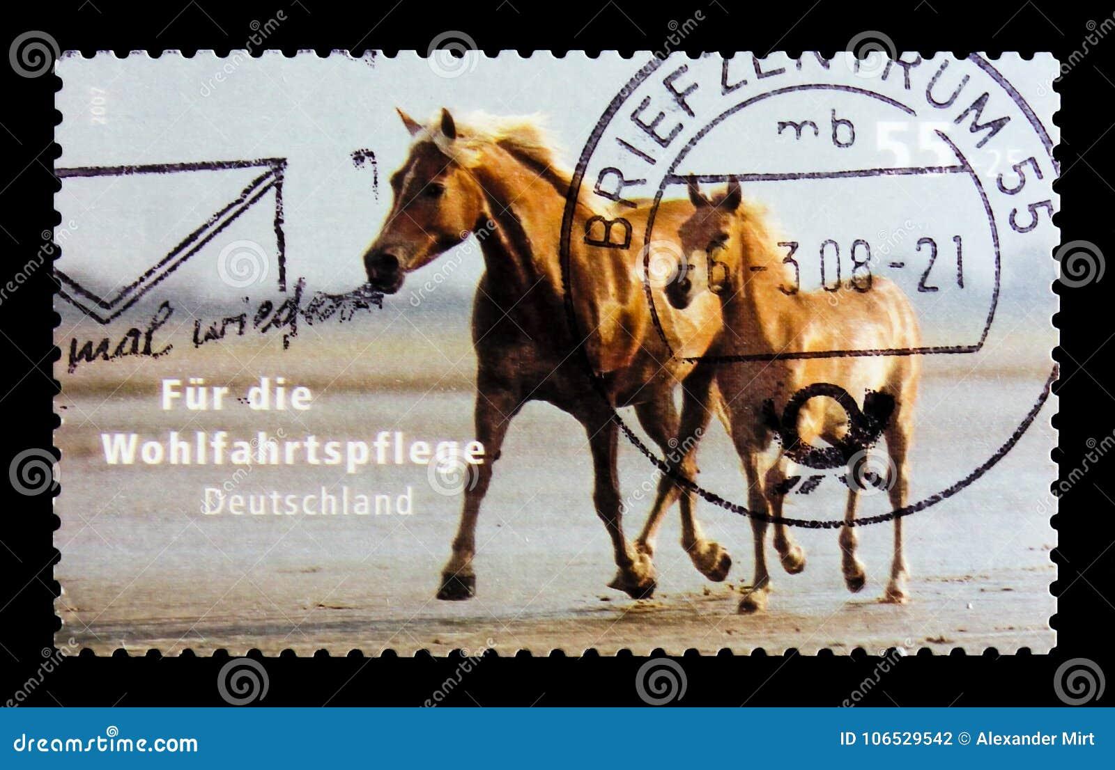 MOSCÚ, RUSIA - 21 DE OCTUBRE DE 2017: Un sello impreso en alemán FED