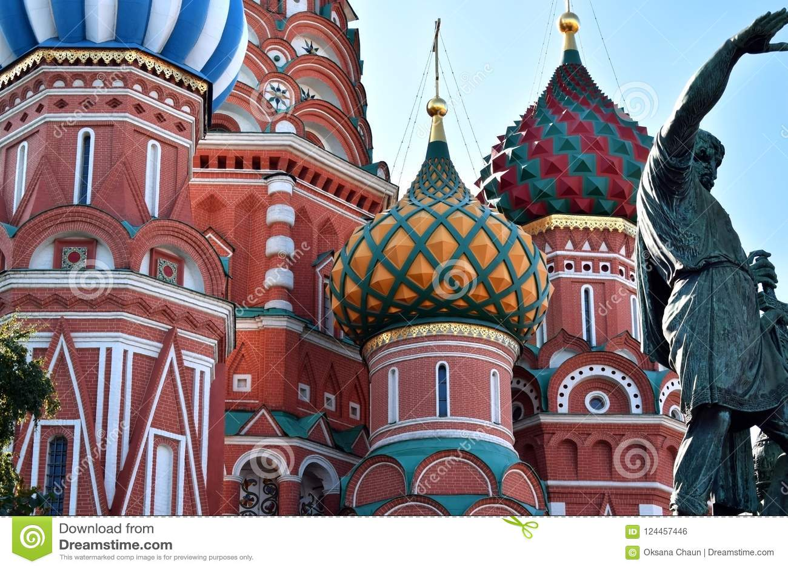 Mosca, Russia - 17 agosto 2018: Cattedrale del ` s del basilico della st sul quadrato rosso