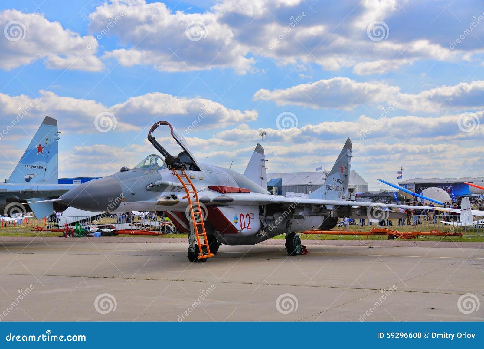 MOSCA, RUSSIA - AGOSTO 2015: fulcro dell aereo da caccia MiG-29 prese