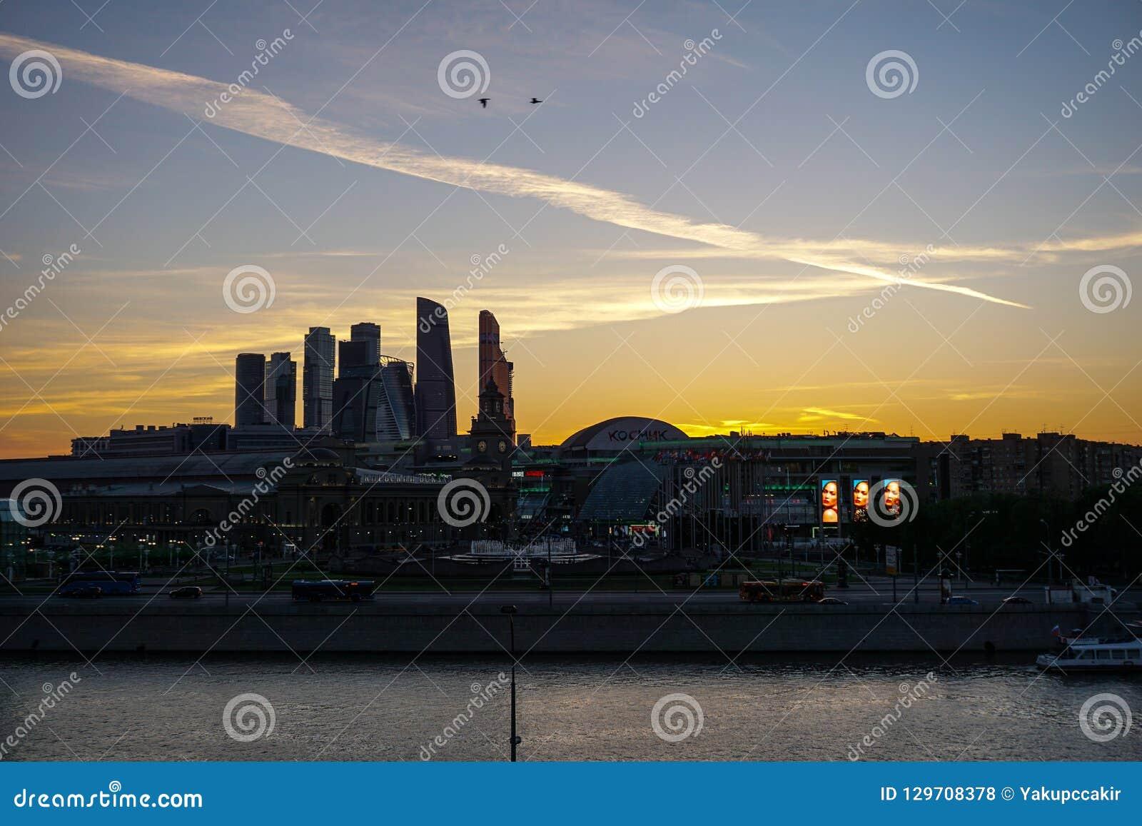 Mosca, Russia - vista del centro di affari di Mosca