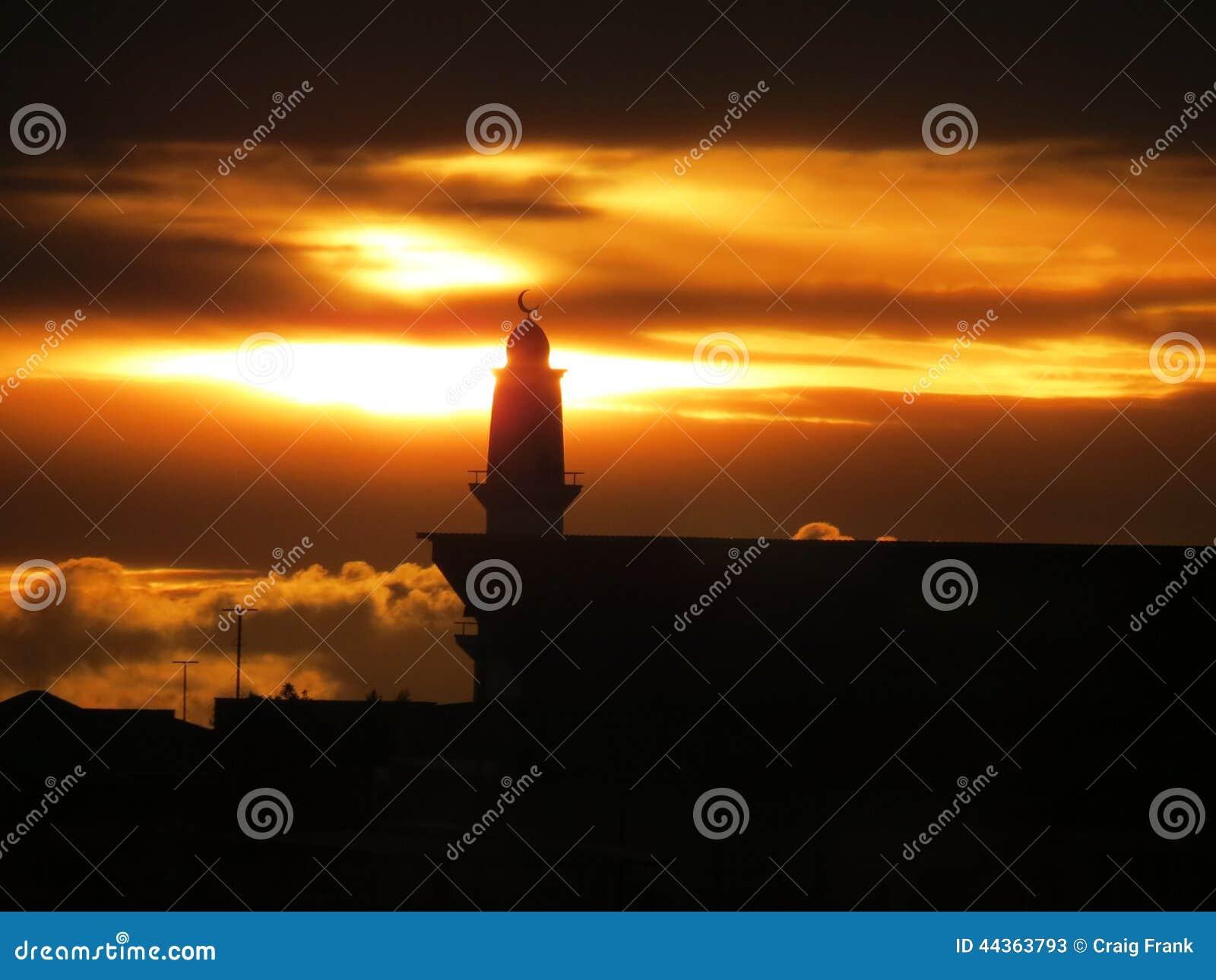 Moschea al tramonto