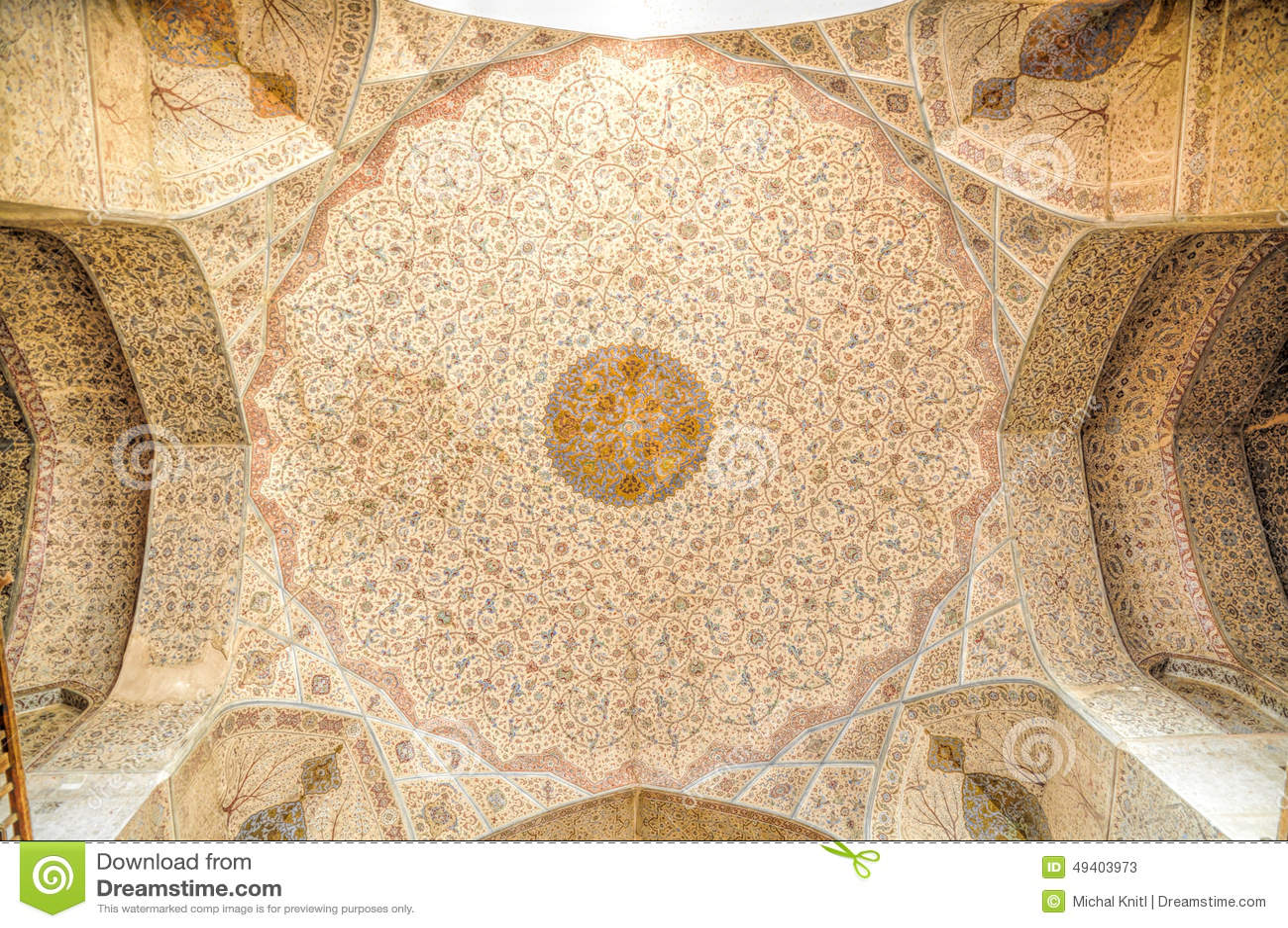 Download Moscheendecke stockbild. Bild von verziert, fromm, iran - 49403973