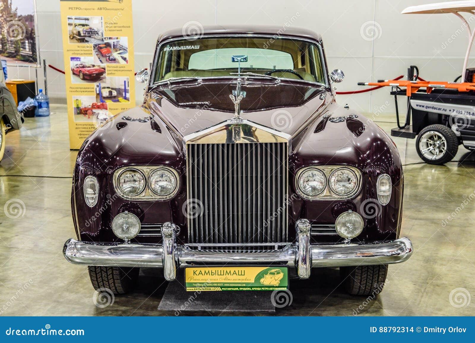 MOSCOU - EM AGOSTO DE 2016: A nuvem III 1964 de Rolls royce apresentou em MIAS Moscow International Automobile Salon o 20 de agos