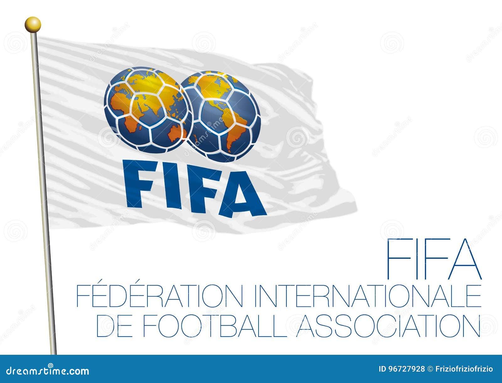 MOSCOU, RÚSSIA, junho-julho de 2018 - Rússia 2018 campeonatos do mundo, FIFA embandeira