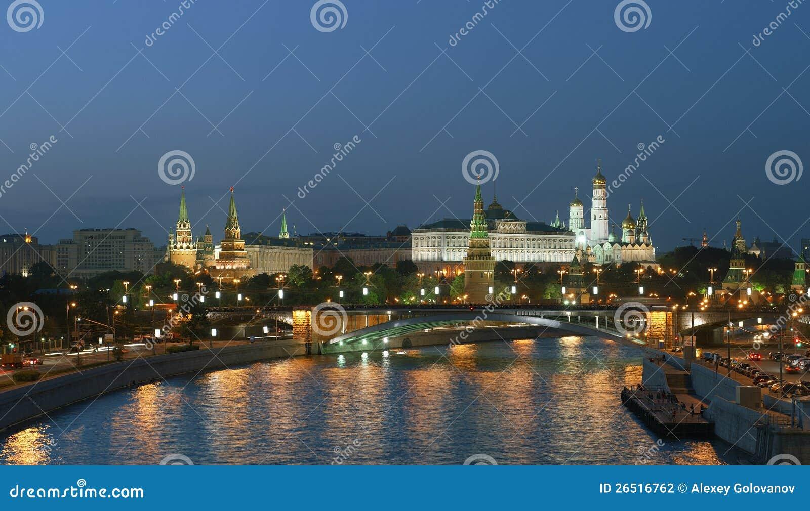 Moscovo Kremlin na noite