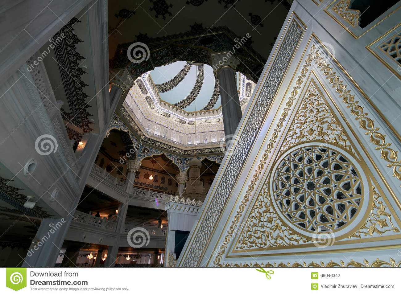 Moscow Cathedral Mosque (interior), Russia -- the main mosque in Moscow