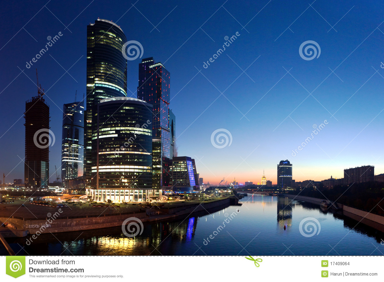 Moscow-city business center