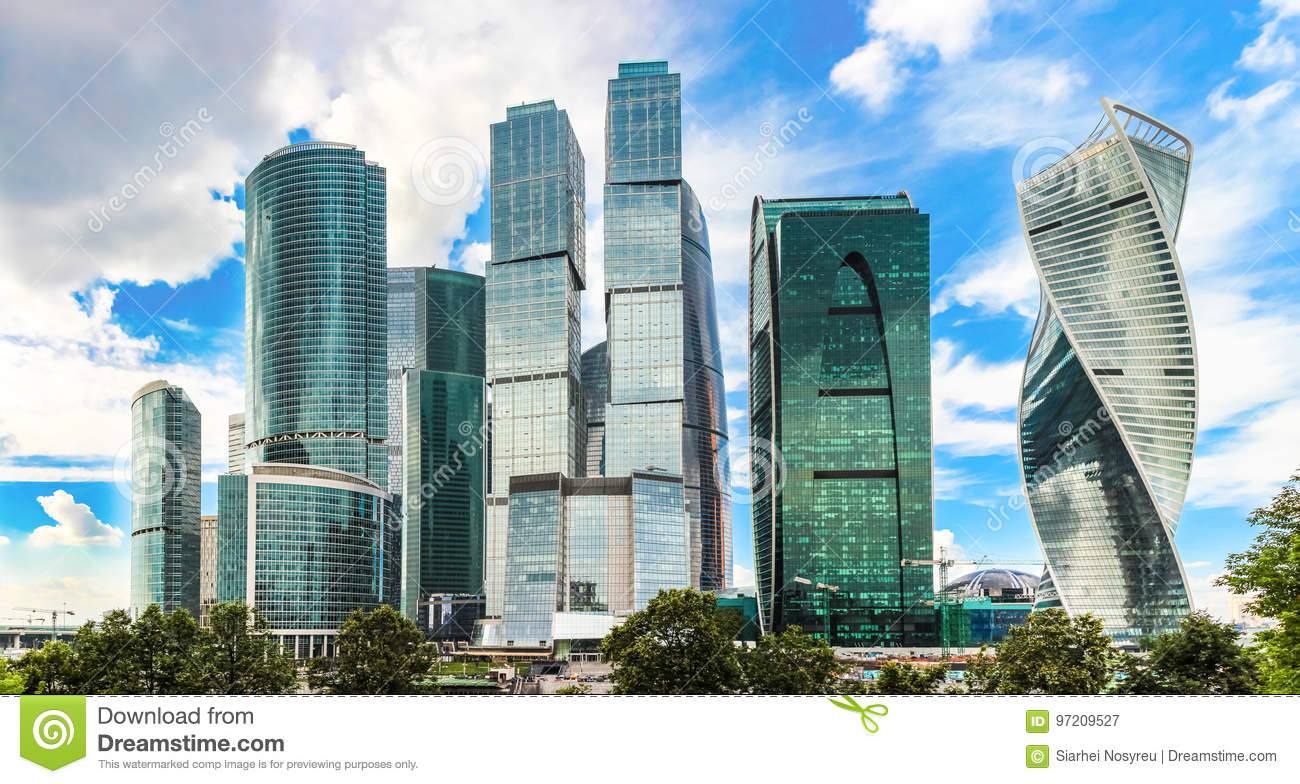 Moscow city, Russia Moscow International Business Center High-rise buildings.