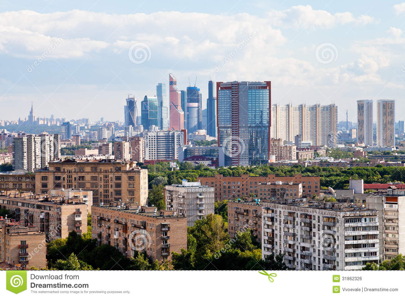 Moscow City Skyline Editorial Photo - Image: 31862326