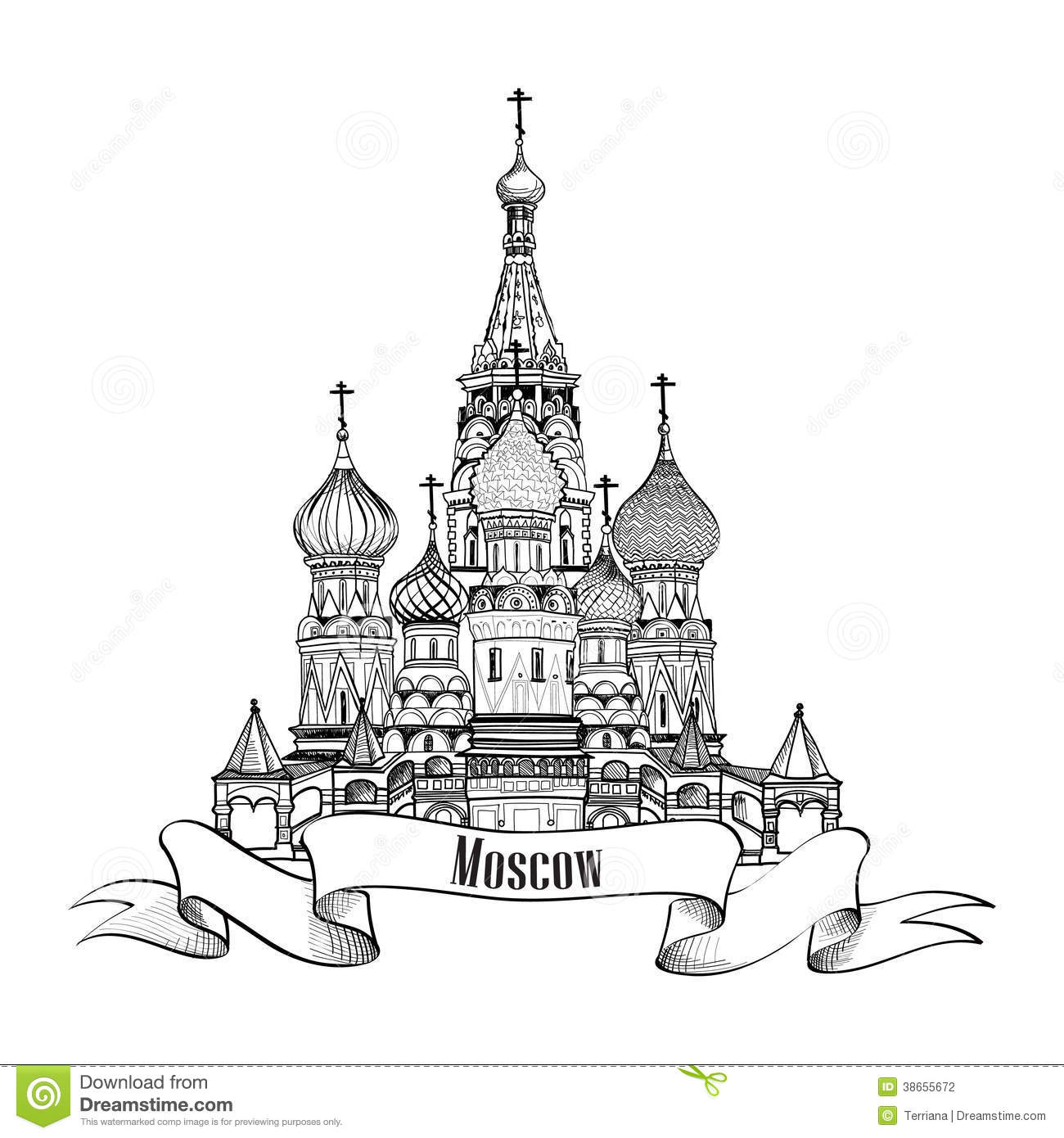 Moscow City Day Decoration, Color Flags. Monument To ... |Moscow City Coloring