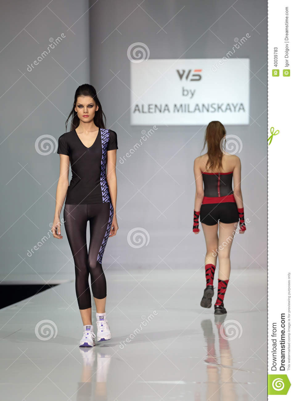 Moscow Fashion Week Editorial Stock Photo Image 40039783