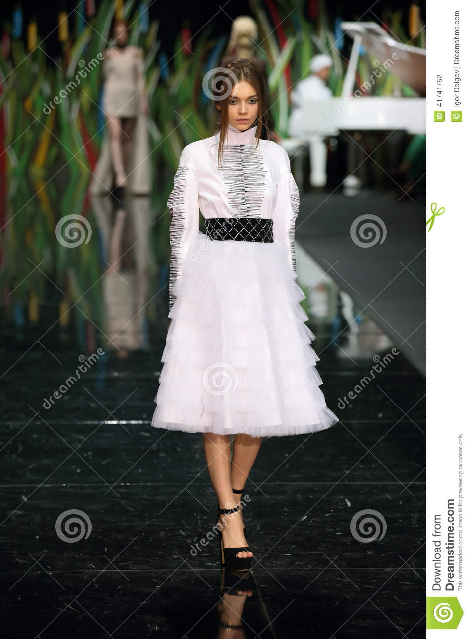 Moscow Fashion Week Editorial Photography Image 41741762
