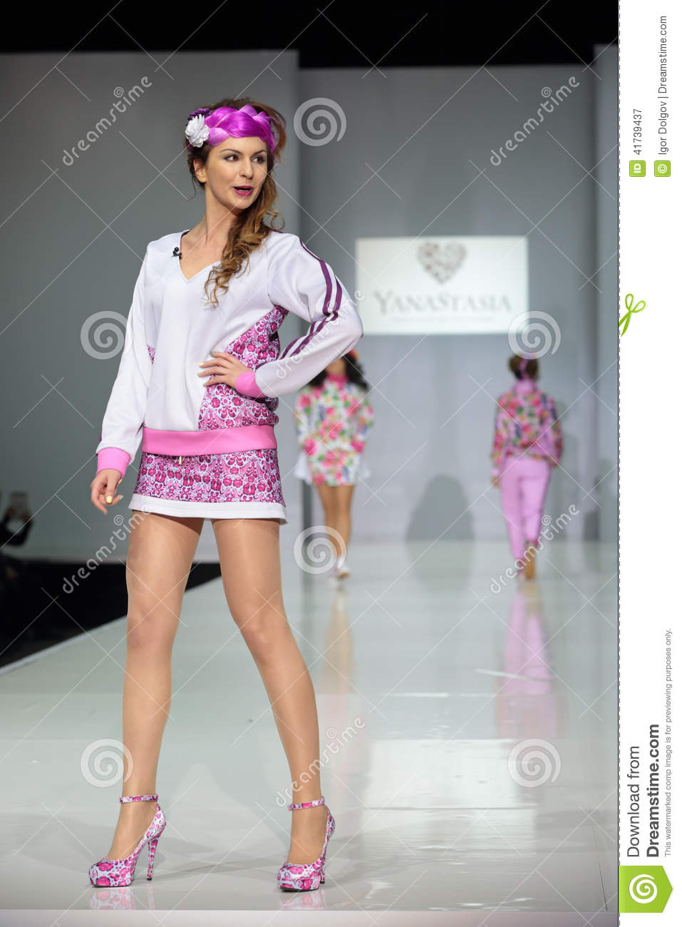 Moscow Fashion Week Editorial Photography Image 41739437