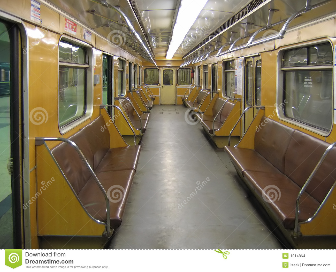 moscow interior of a classic subway car stock images image 1214864. Black Bedroom Furniture Sets. Home Design Ideas