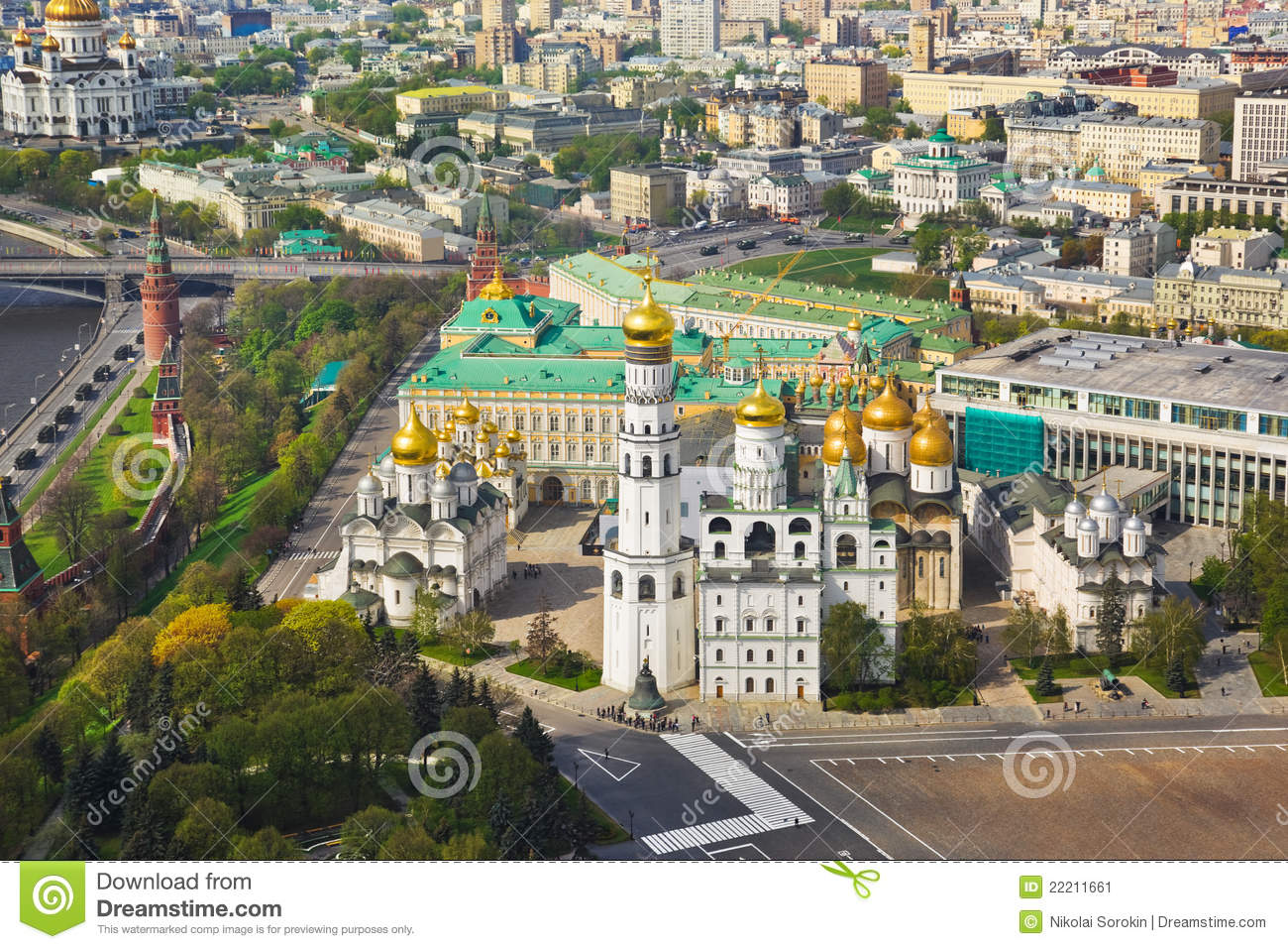 Moscow Kremlin Russia Stock Image Image Of House