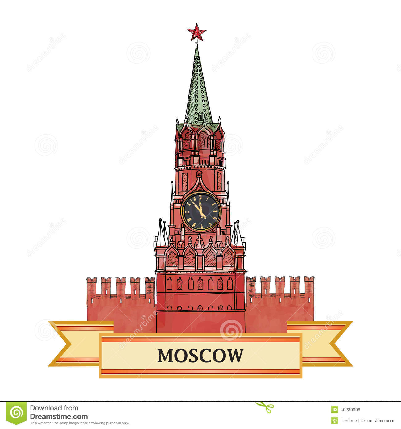 Moscow Kremlin Symbol Stock Vector Image Of Landmark