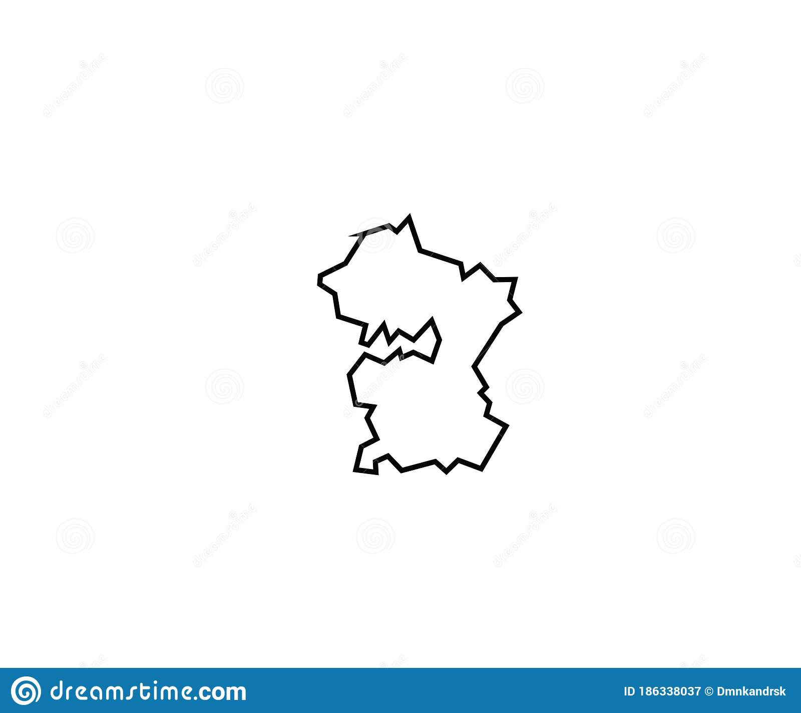 Picture of: Moscow Outline Map Russia Region Oblast Stock Vector Illustration Of Continent European 186338037
