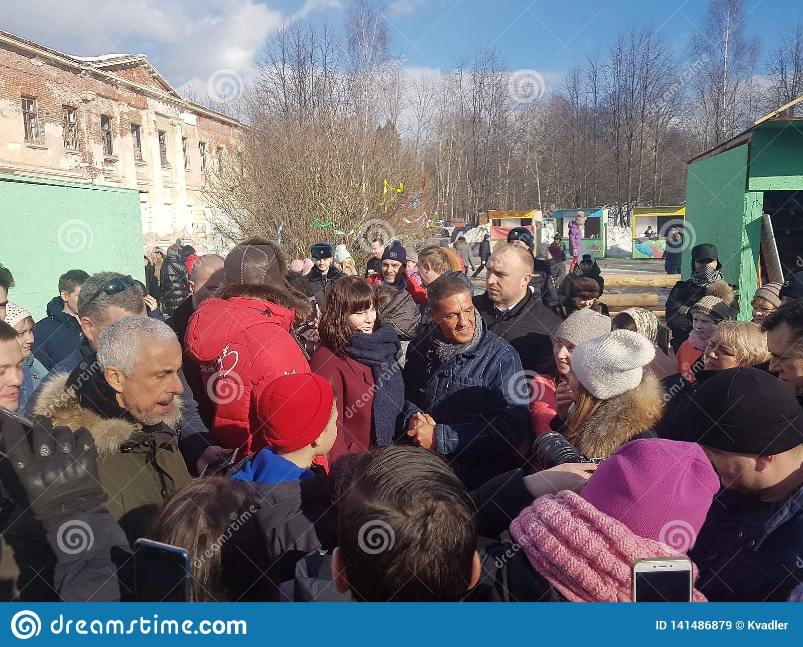 Moscow region, Fryazino, Grebnevo estate-09.03.2019: Samy Naceri French star and actor of Taxi films visiting the estate