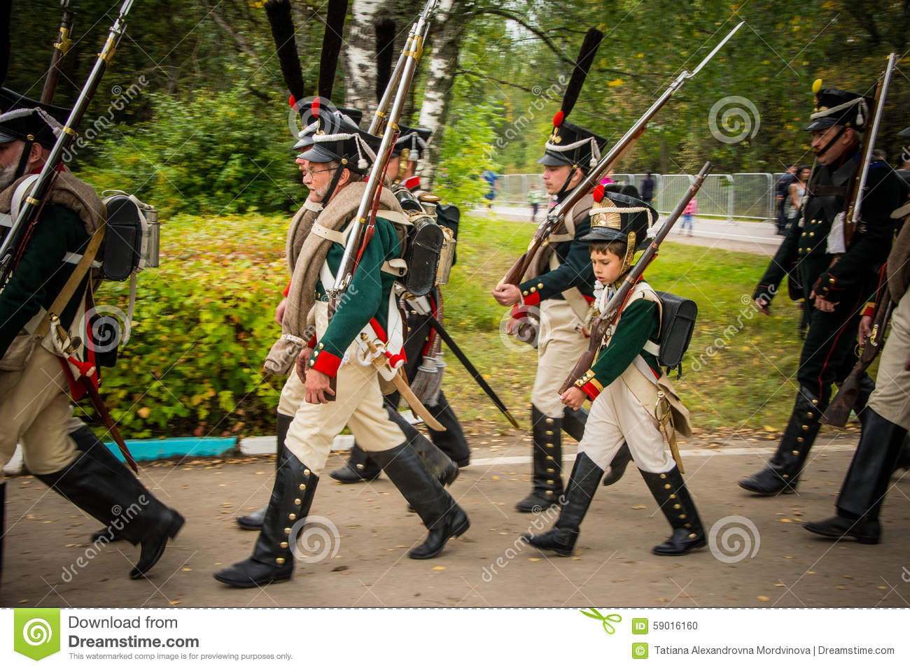 MOSCOW REGION - SEPTEMBER 06: Historical Reenactment Battle Of