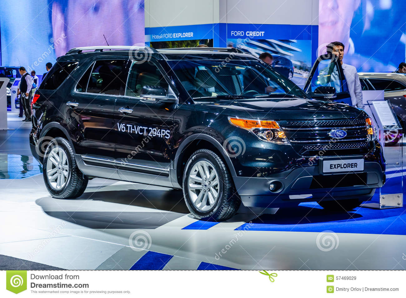 MOSCOW, RUSSIA - AUG 2012: FORD EXPLORER 5TH GENERATION presente