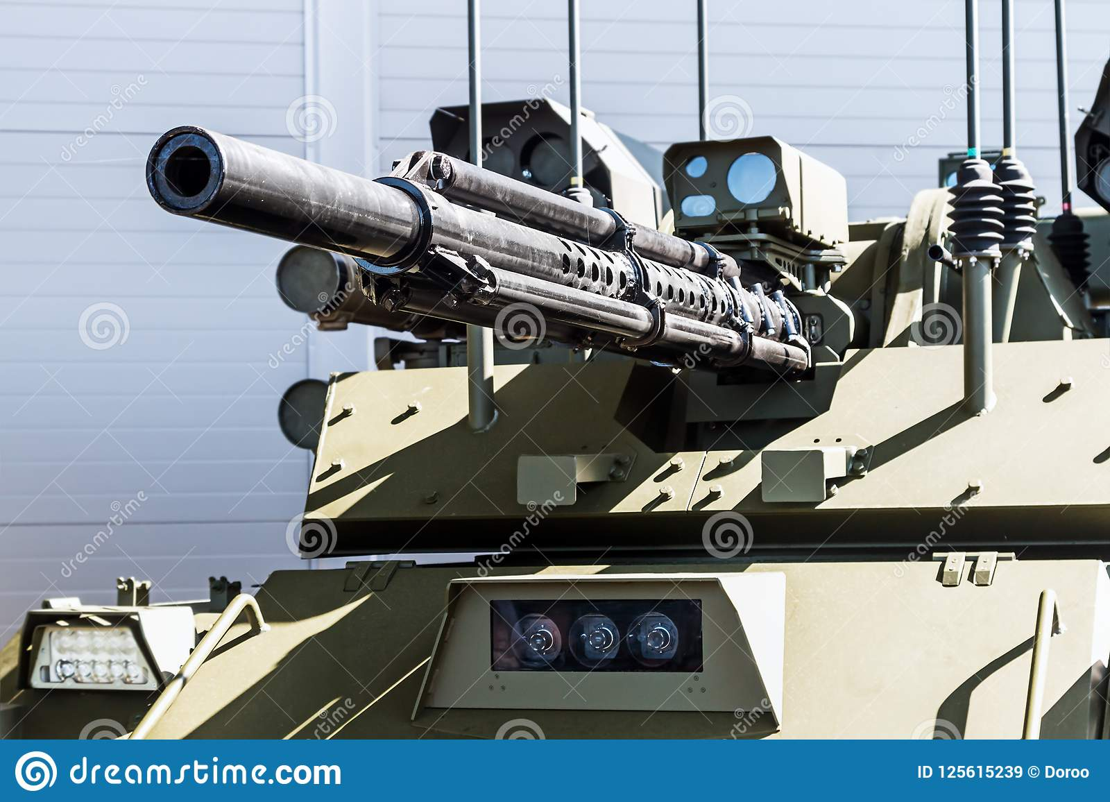 Samples Of Modern Weapons And Armaments At The International