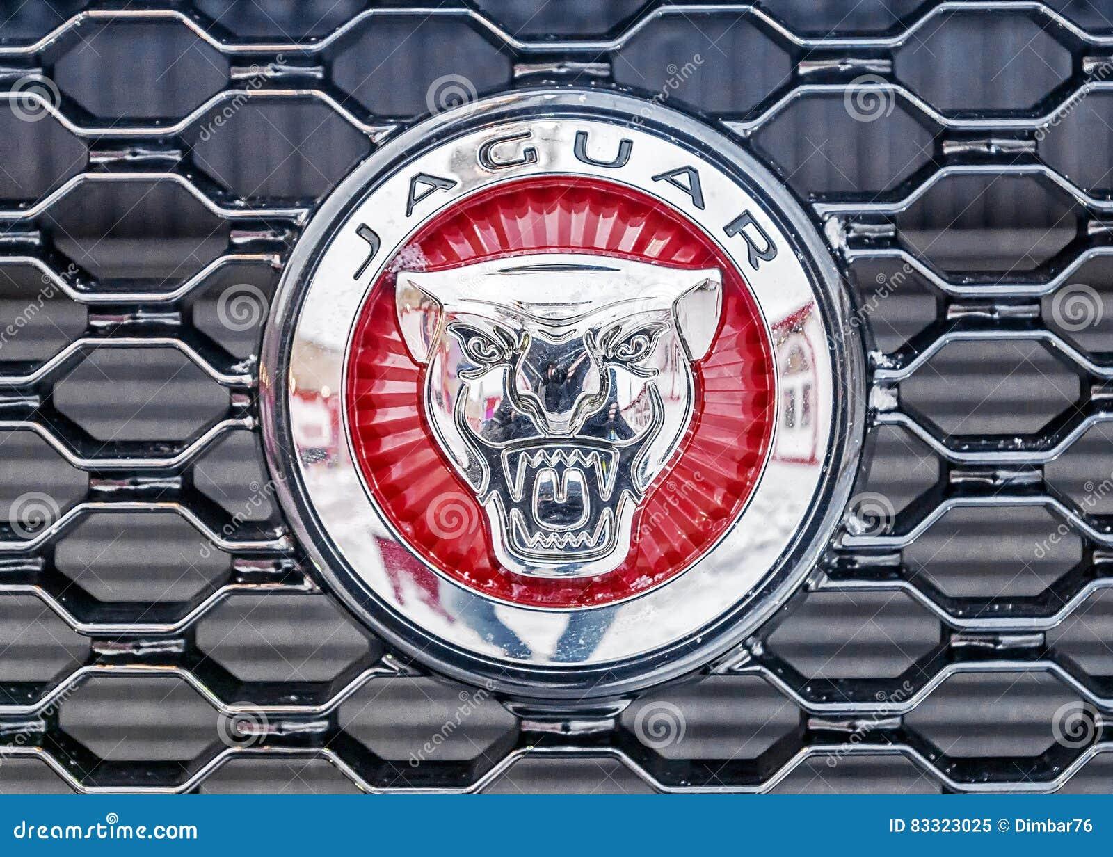 MOSCOW, RUSSIA   DECEMBER 7, 2016: Jaguar Car Logo .Jaguar Cars   Brand  British Transnational Carmaker Jaguar Land Rover