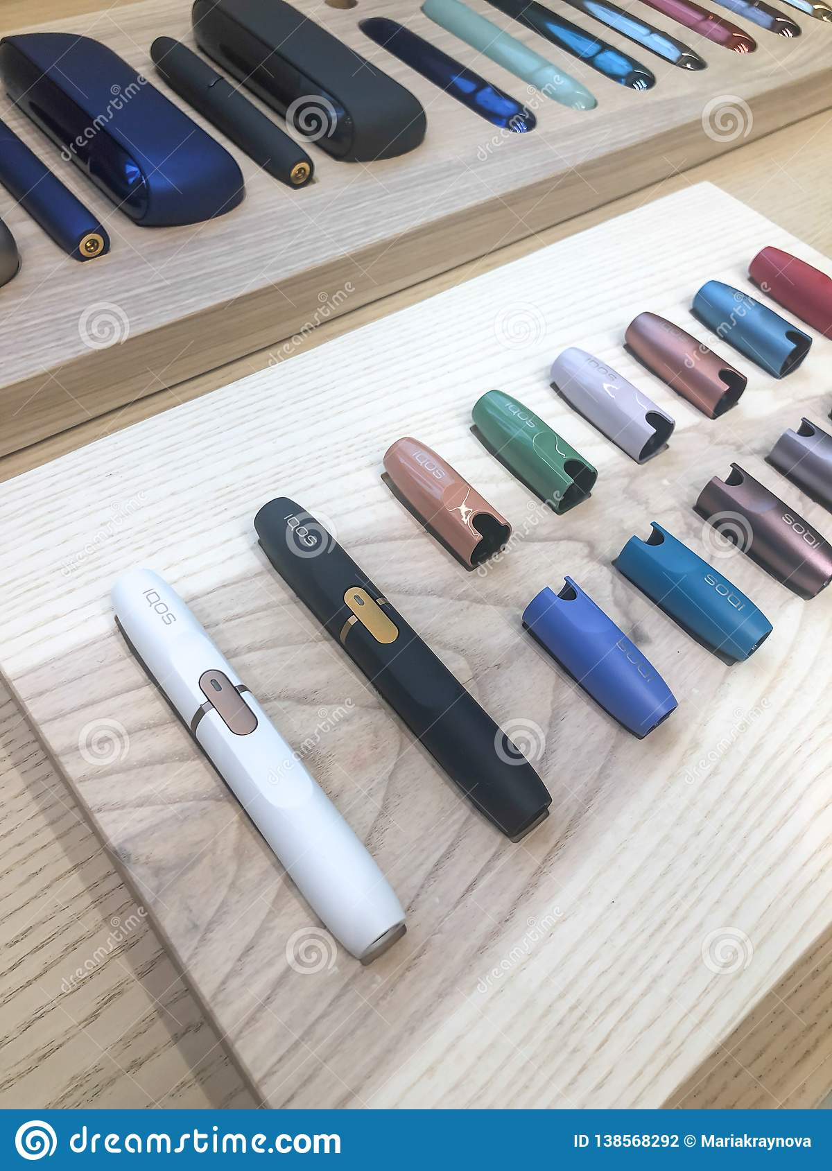 MOSCOW, RUSSIA - FEBRUARY 04, 2019: Iqos Electronic Cigarette Philip