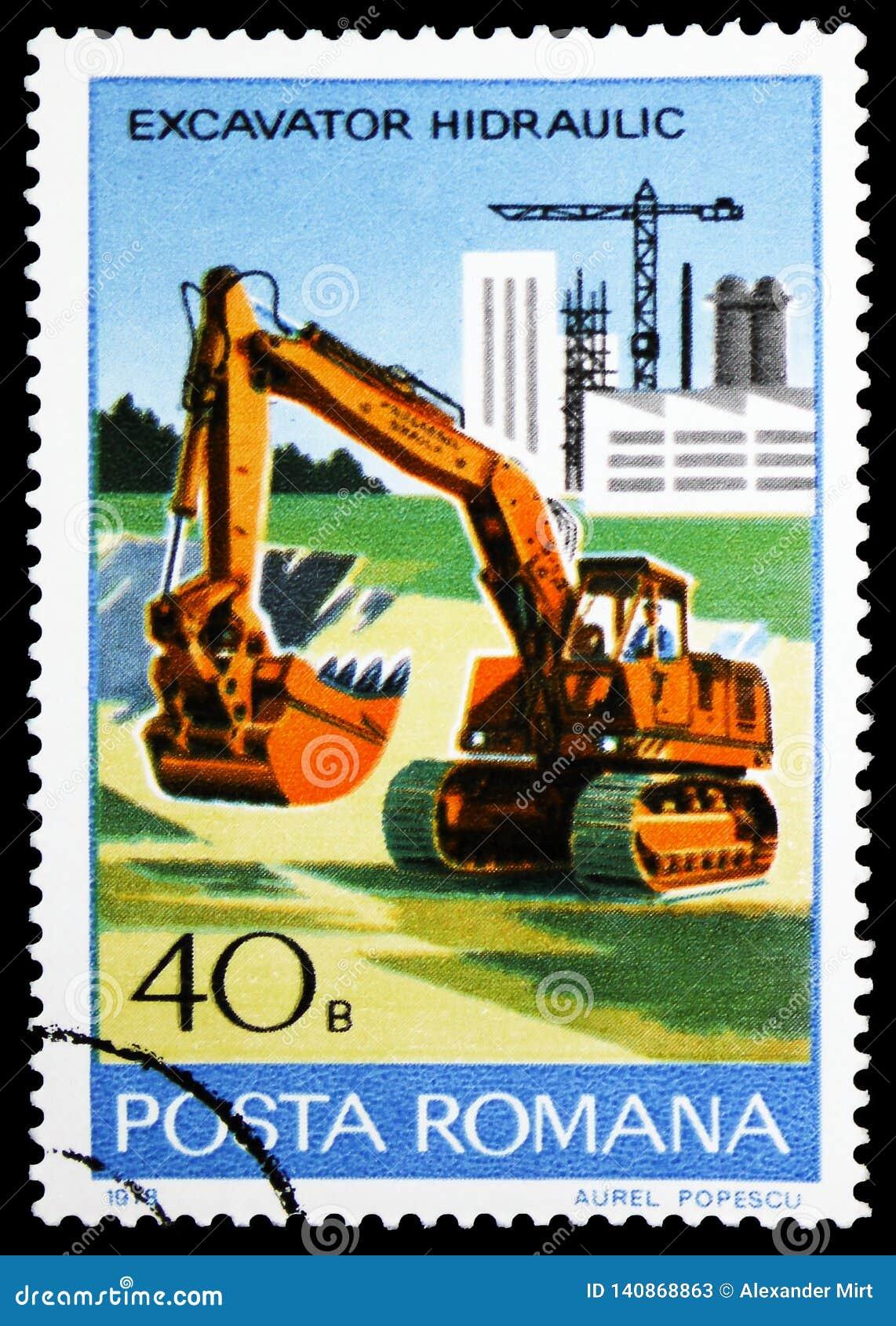 Hydraulic excavator, Industrial Development serie, circa 1978