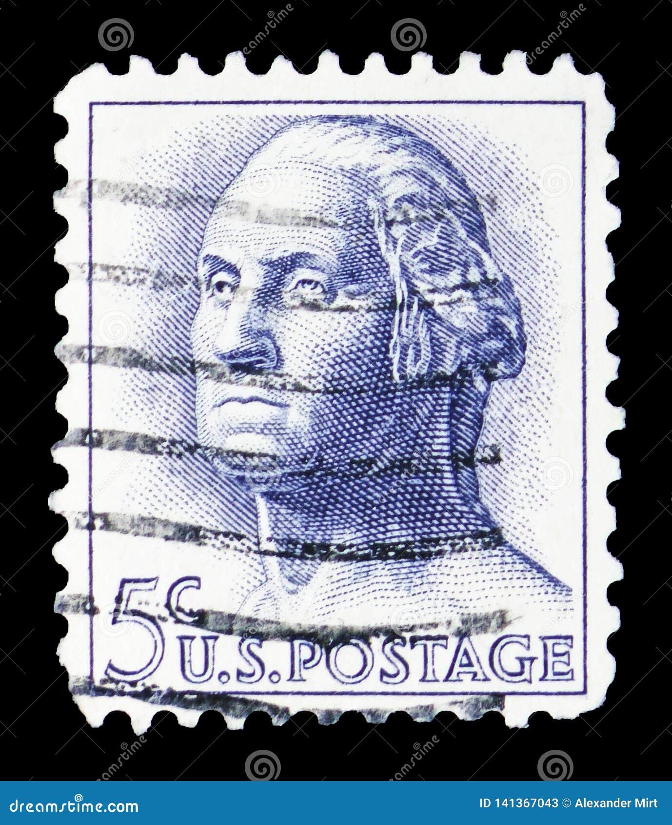 George Washington (1732-1799), 1961-1966 Regular Issue serie, circa 1963