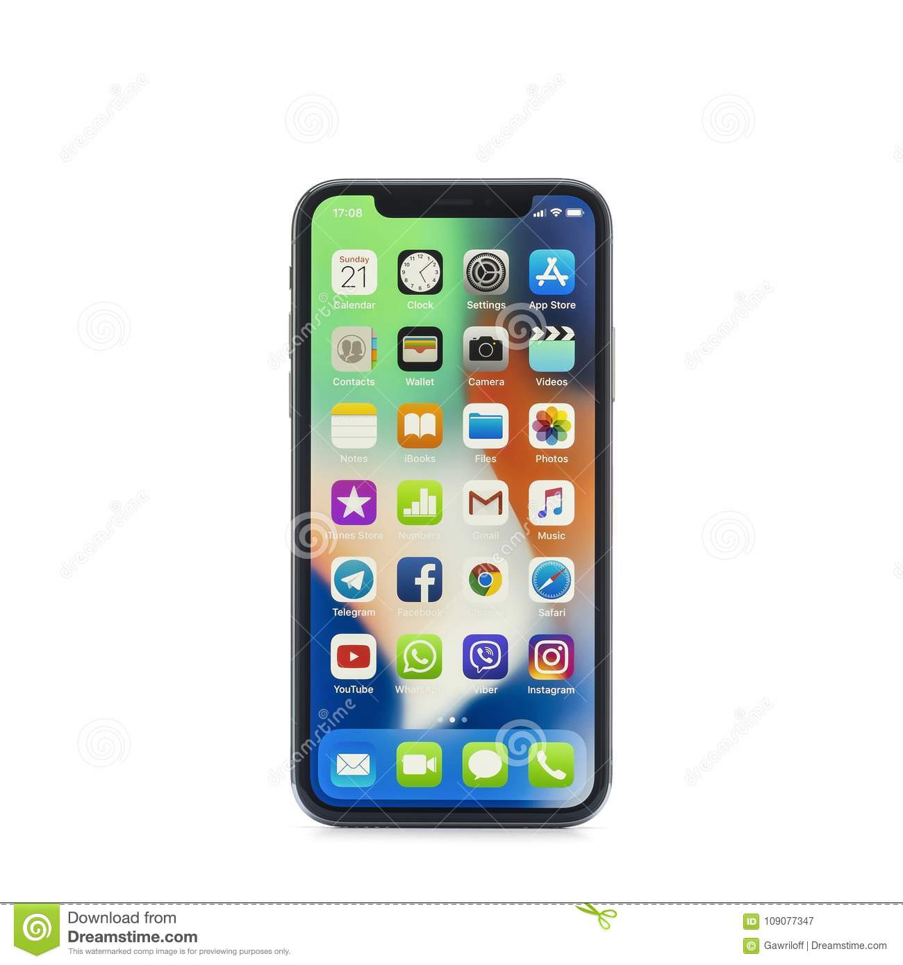 MOSCOW, RUSSIA - jANUARY 06,2018: iPhone X on wooden table. The