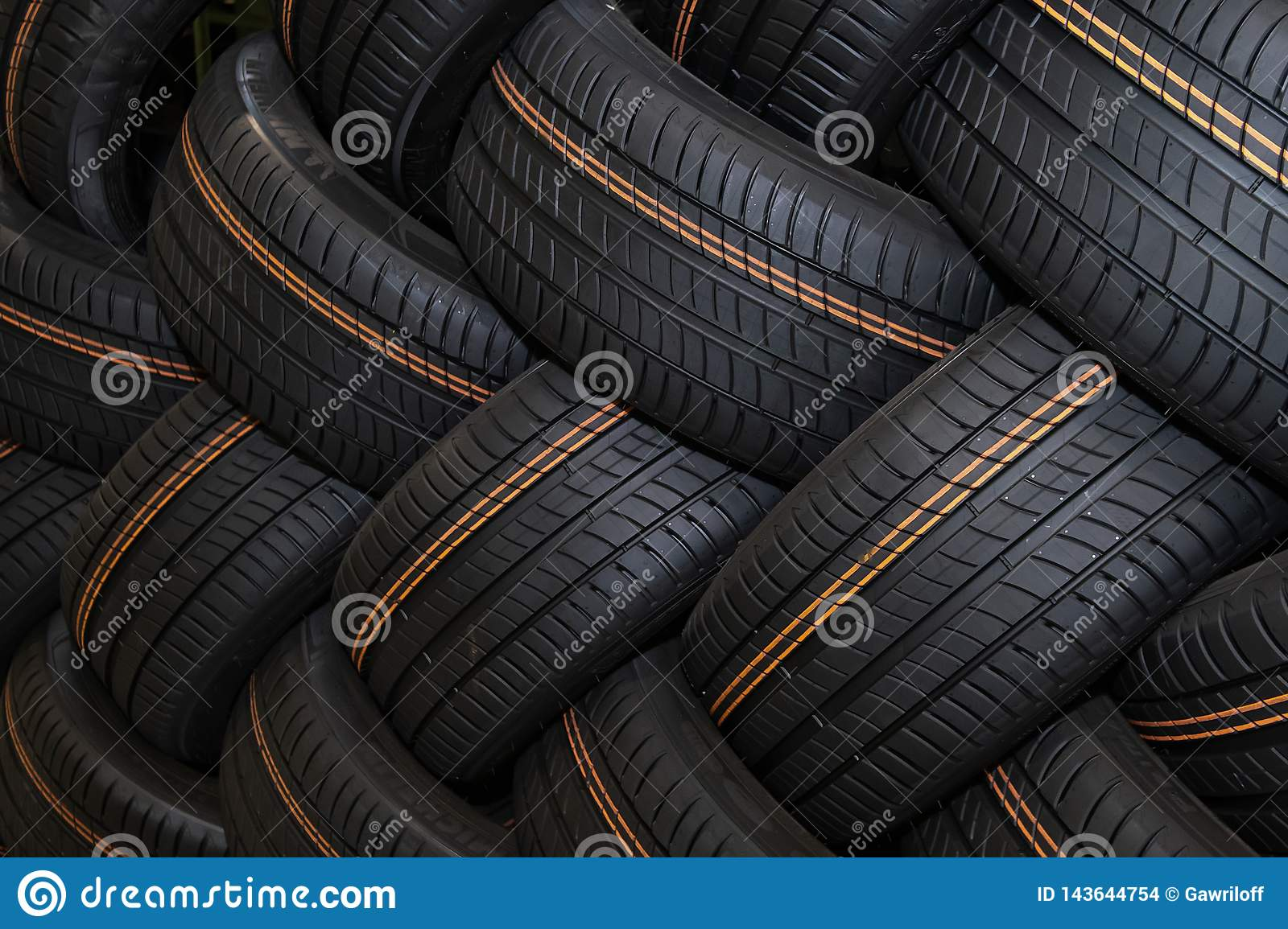 Moscow, Russia - January 14, 2019: Winter car tyre  brand  of the company Michelin. Michelin is a famous tyre manufacturer based