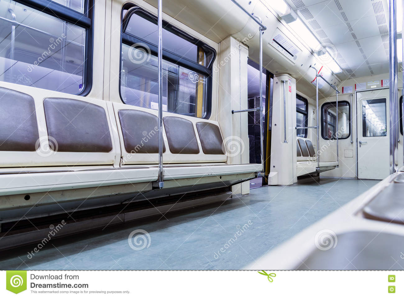 moscow russia july inside of modern subway car editorial photo image 82705246. Black Bedroom Furniture Sets. Home Design Ideas
