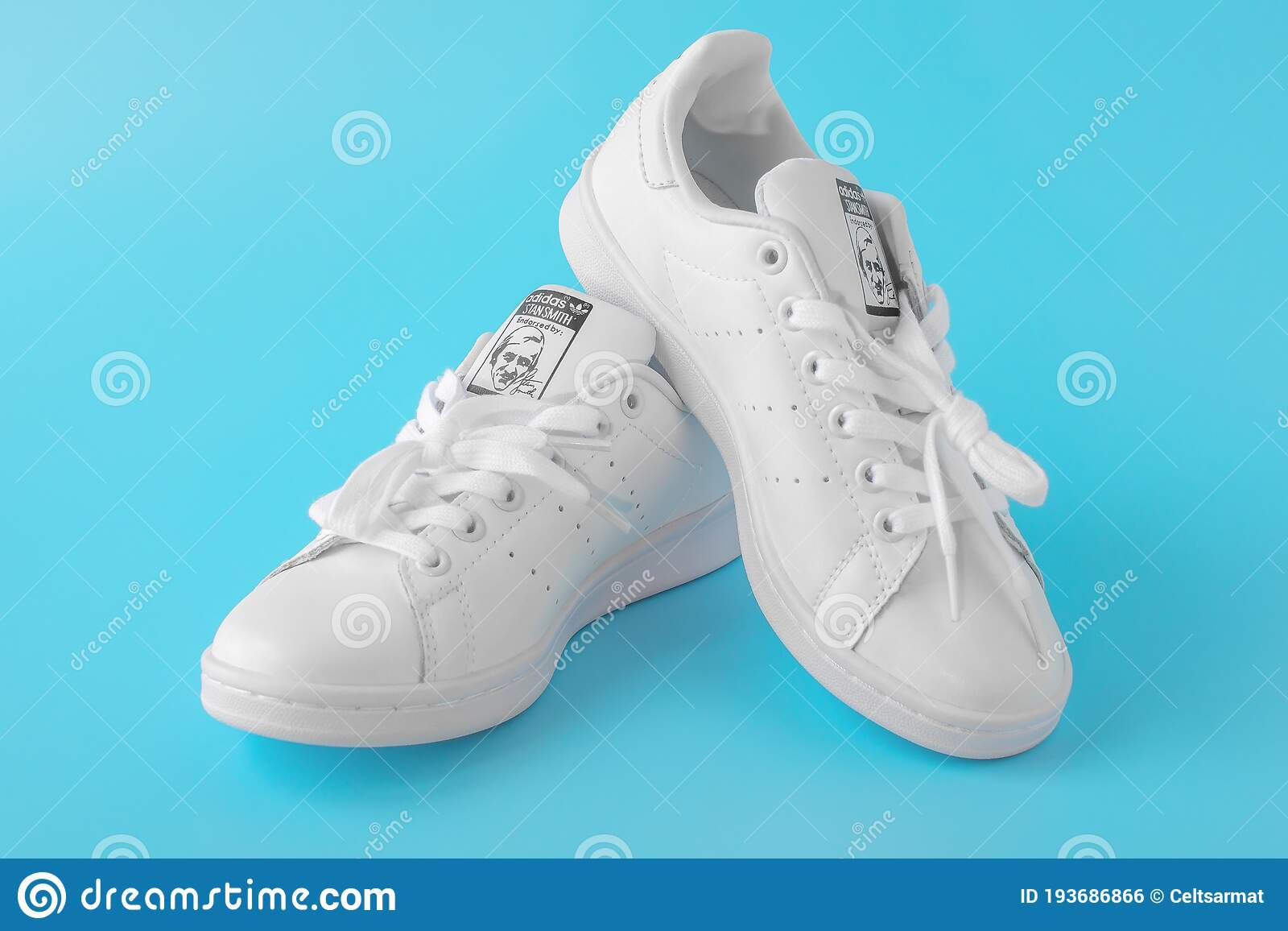 Moscow, Russia - JULY 30, 2020: White Shoes Adidas Stan Smith ...