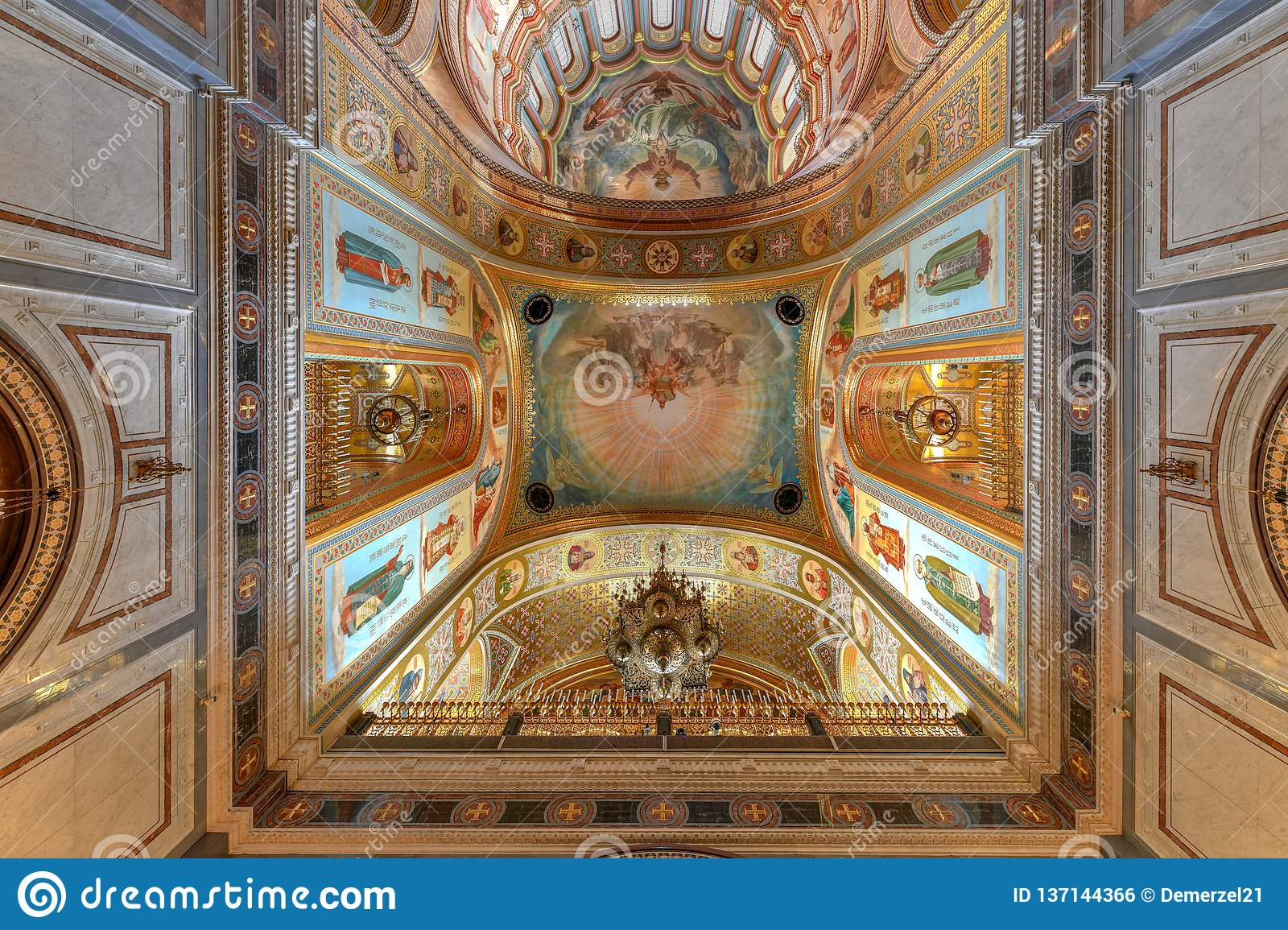 Cathedral Of Christ The Savior Moscow Russia Stock Photo