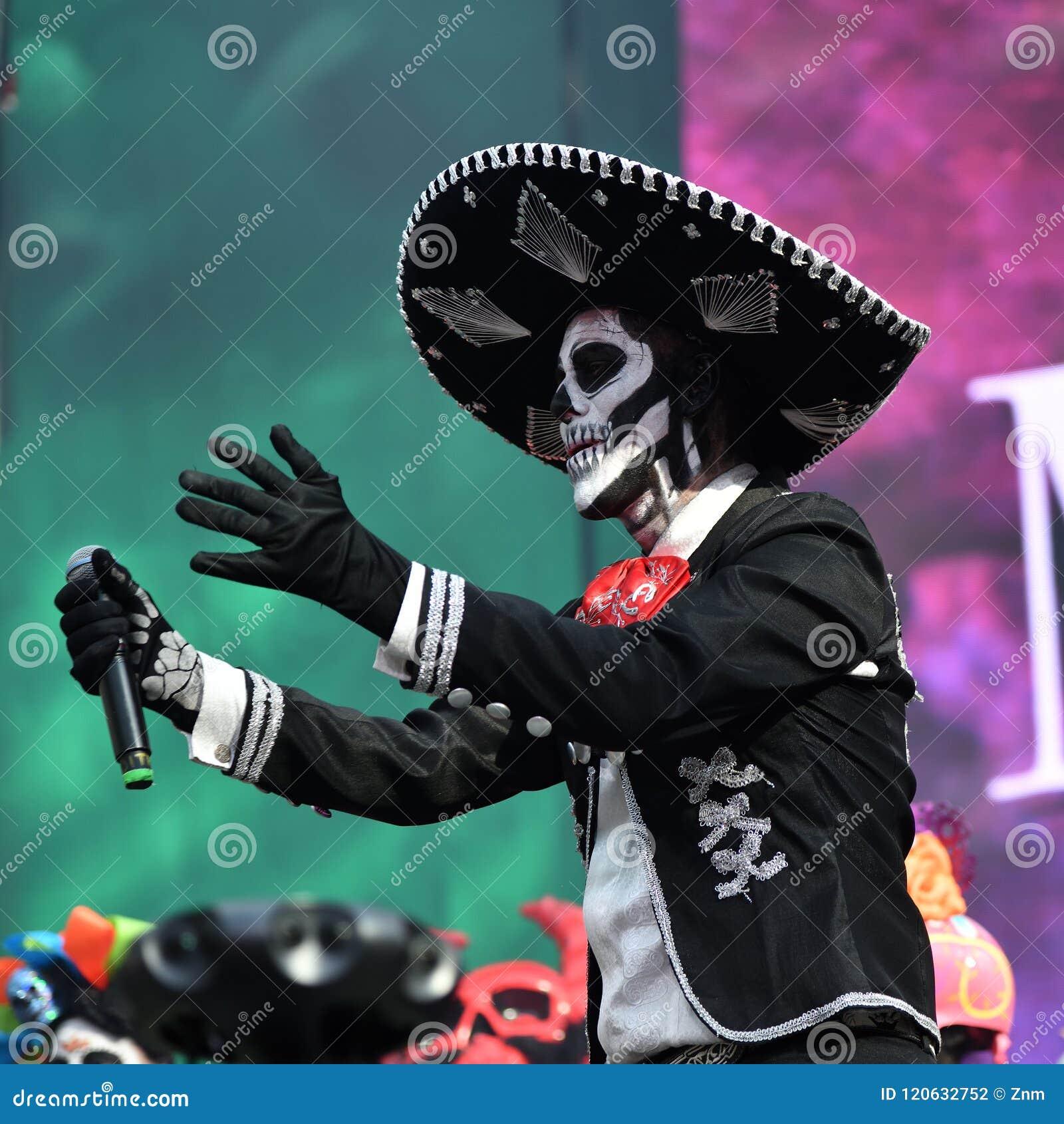 Dia De Los Muertos Carnival Sugar Skull Makeup Man Day Of The
